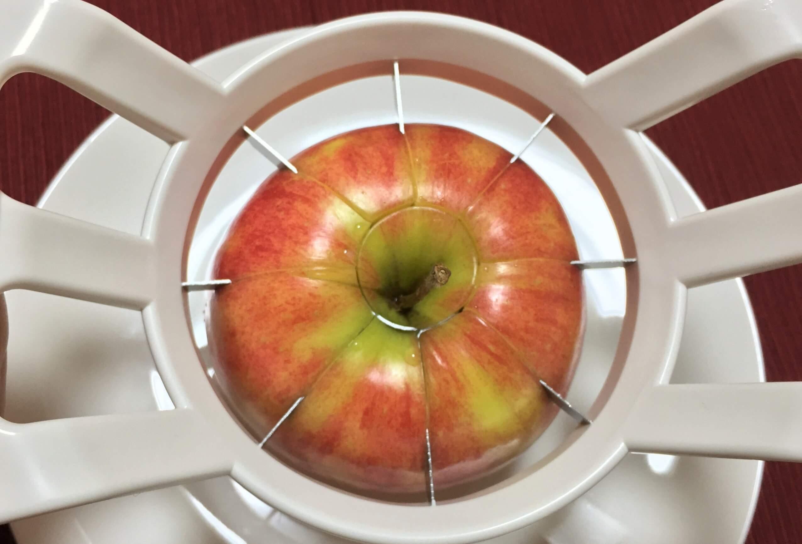 リンゴ芯抜器失敗する