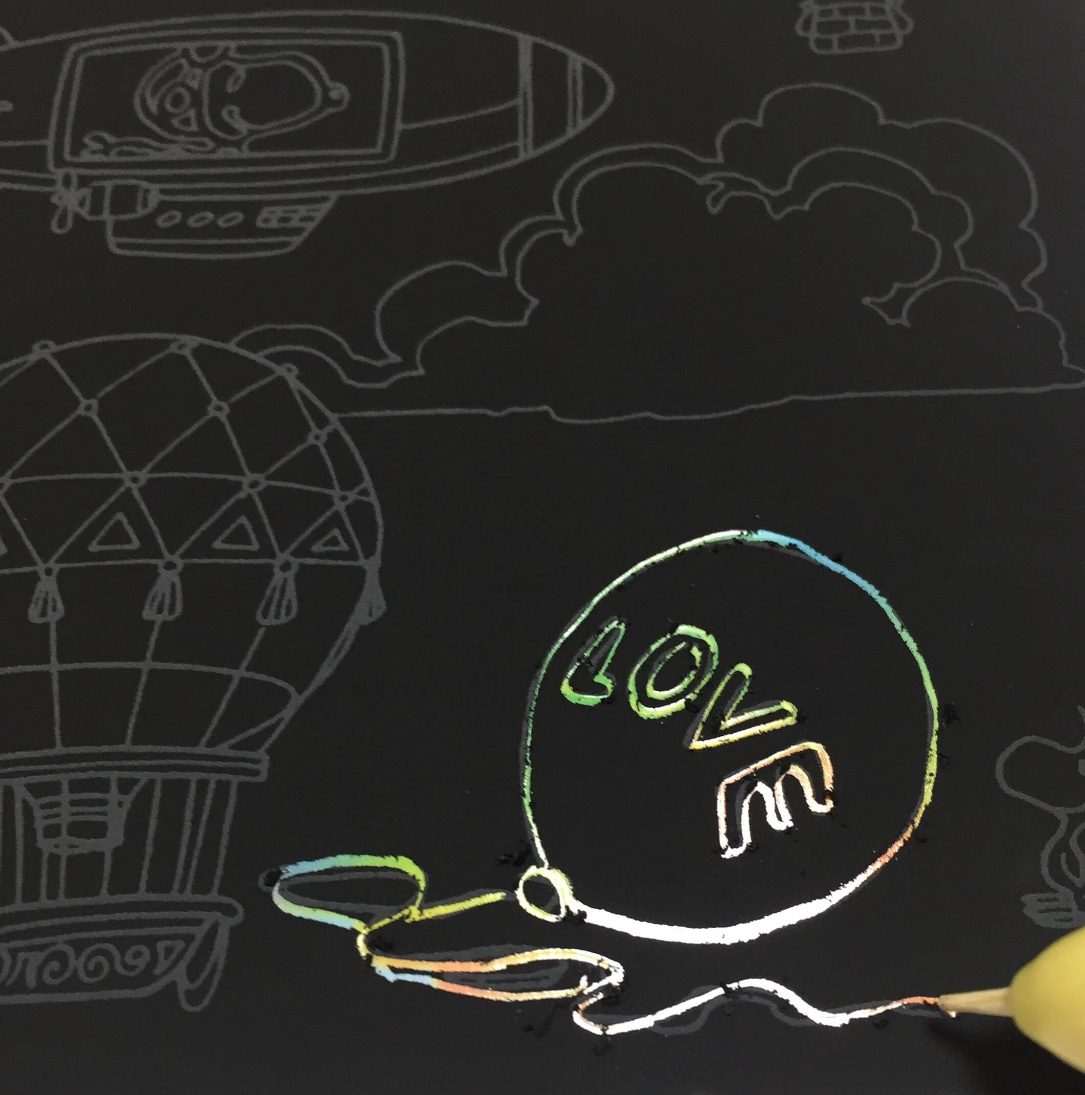 スヌーピースクラッチアート難しい?